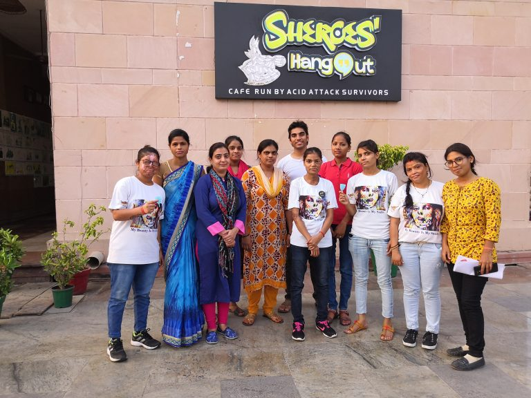 Project for Peace at Sheroes Hangout - Luchnow